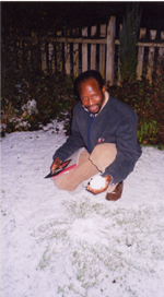 Sekou in the snow